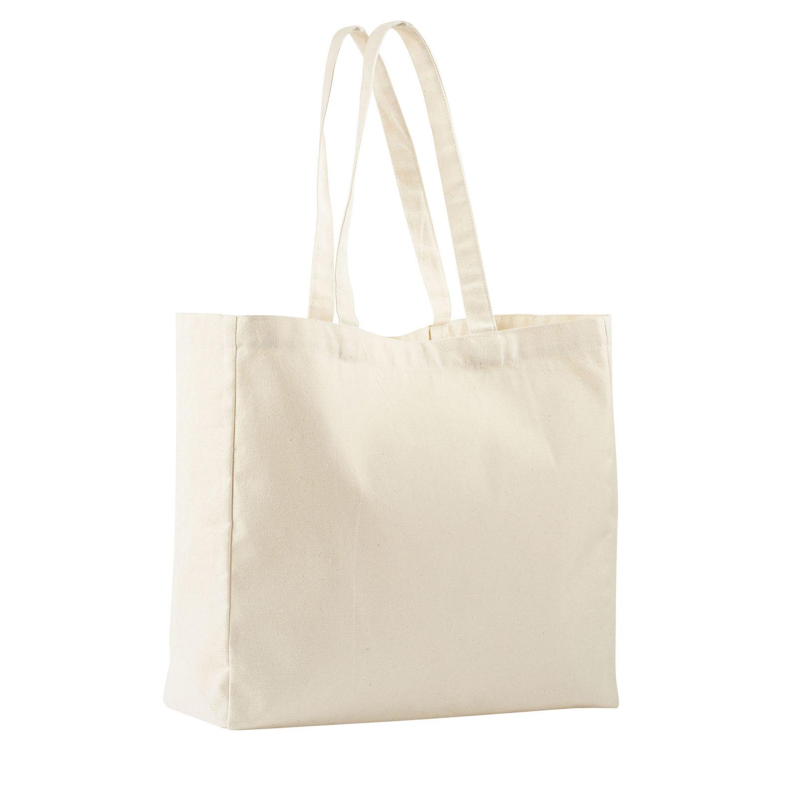 sac shopping pliable en coton naturel delsec20 le. Black Bedroom Furniture Sets. Home Design Ideas