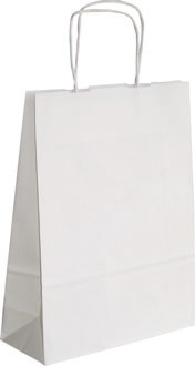 blanc - sac en papier kraft personnalisable barcelona