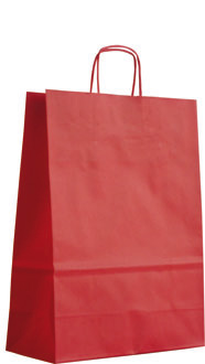 rouge - sac en papier kraft personnalisable barcelona