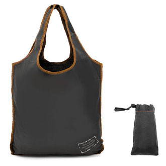 noir-orange - Sac shopping ZIG ZAG SHOP