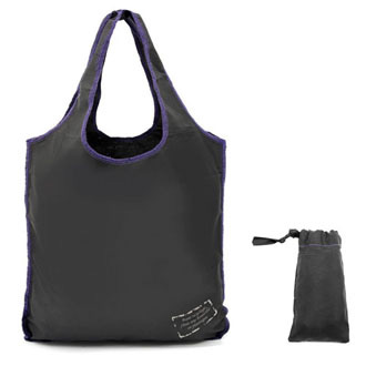 noir-violet - Sac shopping ZIG ZAG SHOP